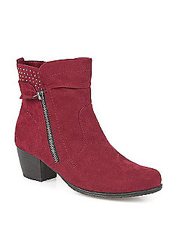 Pavers Boot with Stud Detail Black - 3 - Red