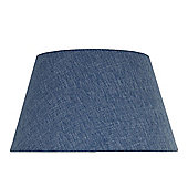 Steel Blue Linen 12 Inch Empire Shade (Dual Fitting)