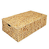 Woodluv Water Hyacinth Under Bed Storage Box Chest Basket -Large