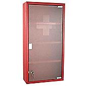 Homcom Wall Mounted 2 Keys Aid Box Lockable Glass Door