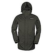 Mountain Warehouse Glacier Extreme Mens Long Waterproof Jacket - Green