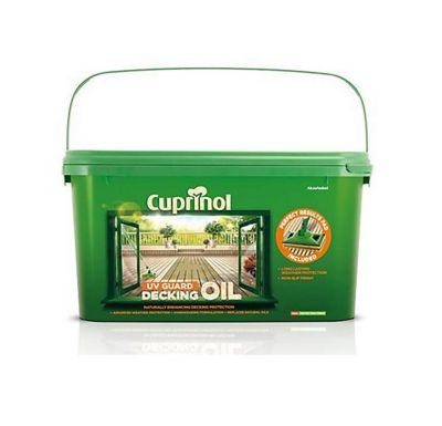 Cuprinol UV Guard Decking Oil with Pad Applicator - Natural Pine - 2.5 Litre