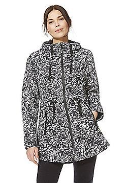 F&F Active Brush Print Hooded Walking Jacket - Black