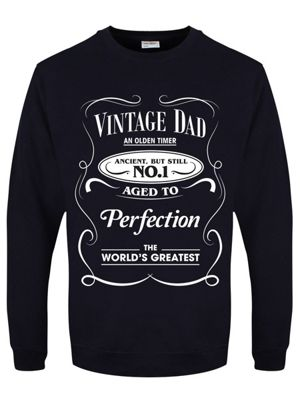 Vintage Dad Fathers Day Men's Sweater, Navy