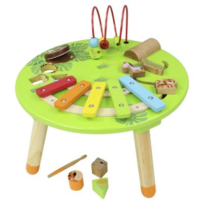 Superior Tesco Wooden Musical Activity Table