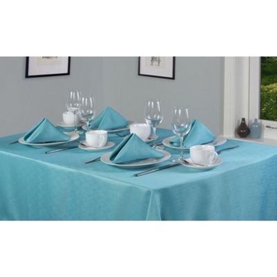 Hamilton McBride Signature Linen Look Oblong Tablecloth 132 x 178cm - Teal