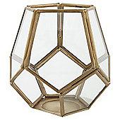 Tesco small gold pentagonal tea light holder