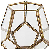 Tesco small gold pentagonal tea light holder