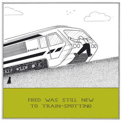 Holy Mackerel Greetings Card- Trainspotting