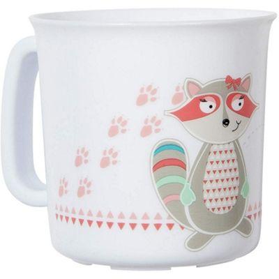Badabulle Microwaveable Cup (Pink Raccoon)
