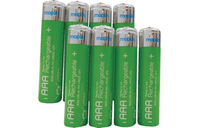 Maplin NiMH Rechargeable 800mAh AAA Batteries 8 Pack