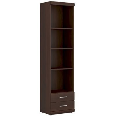 Imperial Tall 2 Drawer Narrow Cabinet open shelving
