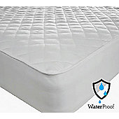 Double 12Inch Deep Waterproof Quilted Mattress Protector Microfibre Soft Touch Fitted Sheet