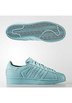 adidas Originals Women's Superstar Glossy Toe Leather Trainers - Green
