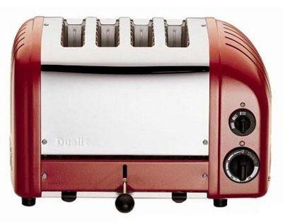 Red Vario toaster, 4 slice