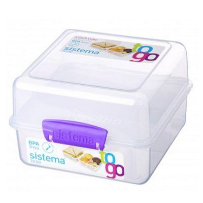 Sistema Lunch Cube To Go 1 4l Box Purple