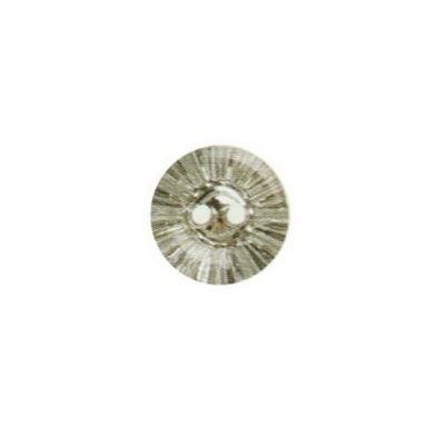 Hemline Diamante Crystal Buttons Clear 12.5mm 3pk