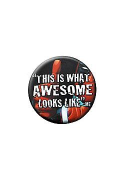 Deadpool Marvel Awesome Badge - Multi