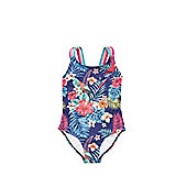 F&F Tropical Print Strappy Swimsuit - Multi