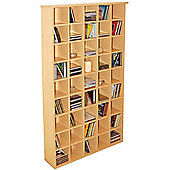 Pigeon Hole - Cd Media Storage Shelves - Beech