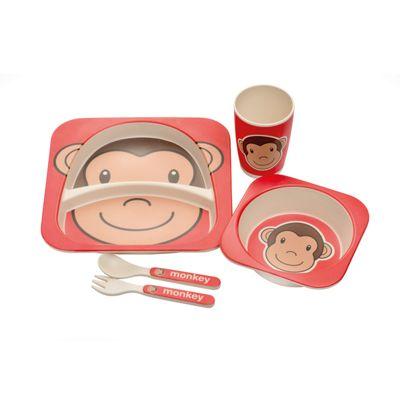 Epicurean Monkey Eco Bamboo 5 Piece Kids Set