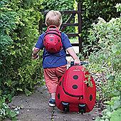 LittleLife Wheelie Duffle Bag and Animal Kids Daysack Ladybird