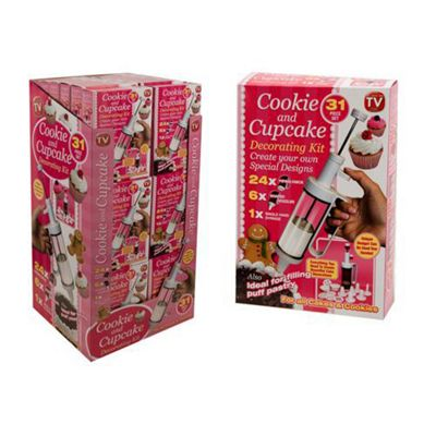 Cookie and Cupcake Decorating Kit - 31 piece set Age 3yrs+