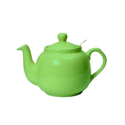 London Pottery Traditional 6 Cup Farmhouse Filter Teapot Greenery Green 1600ml