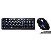 Cit Storm Black Keyboard and Mouse Kit with Blue LED