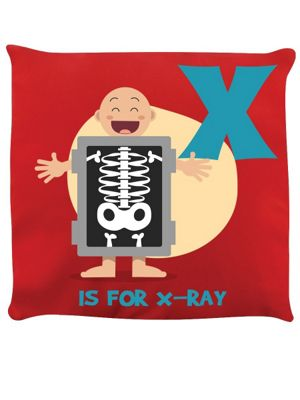 X Is For X-Ray Red Cushion 40 x 40cm