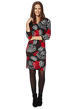 Roman Originals Floral Print Knitted Dress - Multi