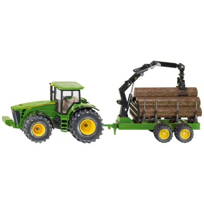 Vehicles - Farmer 1:50 - John Deere Tractor with Forestry Trailer - 1954 - Siku