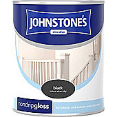 Johnstone's 303896 Non-Drip Gloss Paint - Black 2.5 litre