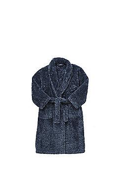F&F Fleece Dressing Gown - Navy
