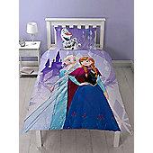 Disney Frozen Snowflake Single Duvet Cover And Pillowcase Set