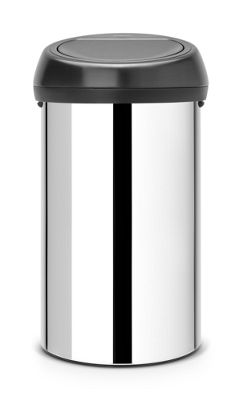 Brabantia Brilliant Steel 60L Touch Top Bin