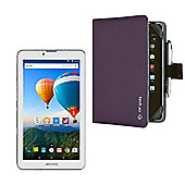 "Archos 70 Xenon Color 7"" 3G Tablet MediaTek Quad Core 8GB Android 5.0 With Purple Folio Case - 503179"