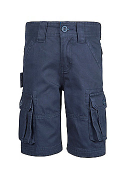 Cargo Kids Multi Pockets 100% Twill Cotton Sporty Outdoor Shorts - Blue