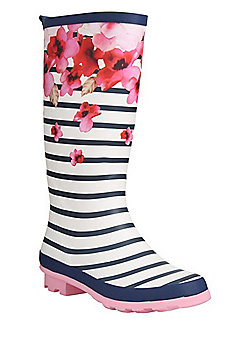 F&F Floral and Striped Wellies - Multi
