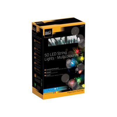 50 Multicoloured String Lights