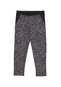 F&F Space Dye Ponte Skinny Trousers - Grey