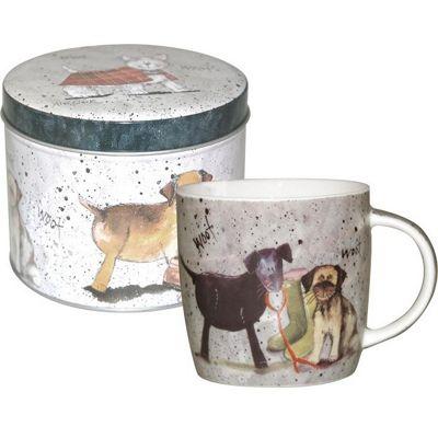 Alex Clark Dogs Mug in Tin 0.28L