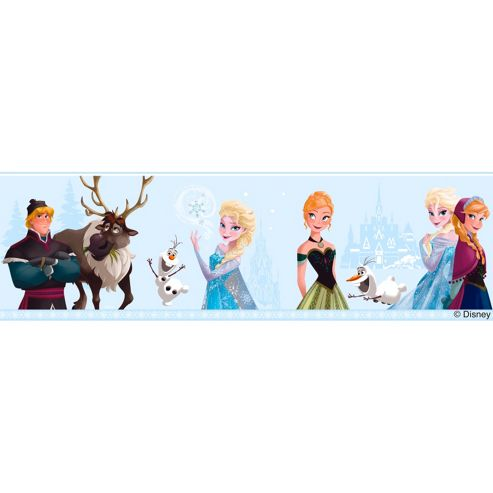 Disney Frozen Self Adhesive Wallpaper Border - Light Blue (FR3503-1)
