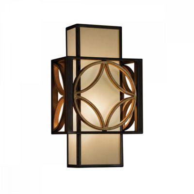 Heritage Bronze/Parissiene Gold Remy 1lt Wall Light - 1 x 60W E14