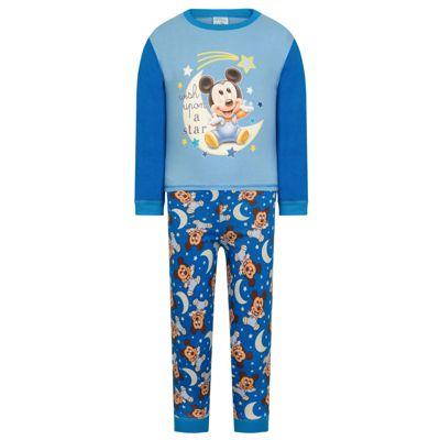 Disney Mickey Mouse Baby Boys Pyjamas Blue 6-9 Months