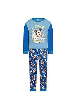 Disney Mickey Minnie Mouse Baby Pyjamas - Blue