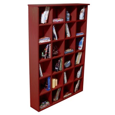 Techstyle DVD and CD Storage Shelves - Mahogany