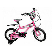"MX16 Girls 16"" Wheel Pink BMX Bike With Stabilisers"