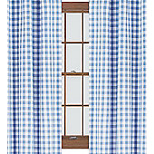 Blue Gingham Curtains 72s