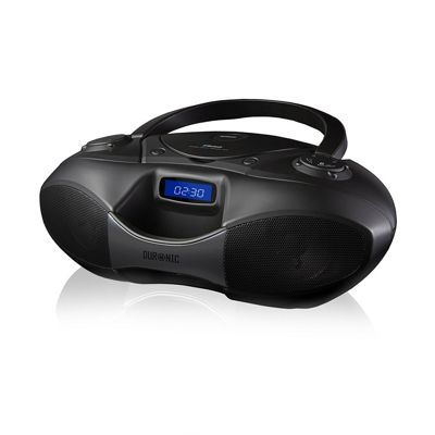 Duronic RCD6200 Bluetooth CD Player Boombox Black, Radio, Flash memory MP3 Playback, and Connect and play via AUX socket
